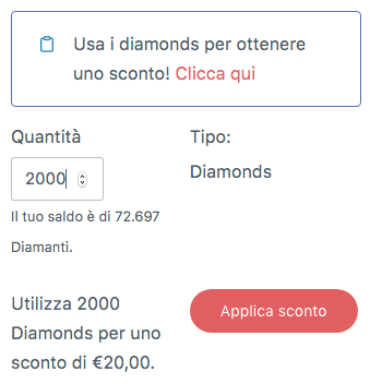 Diamanti cambio