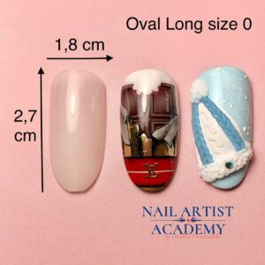 Tip oval long size 0