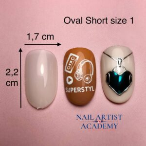 Tip oval short size 1