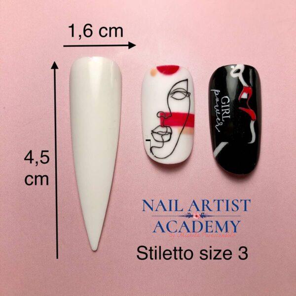 Tip stiletto bianco size3
