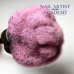 spazzola polvere unghie rosa