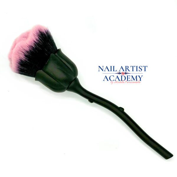 spazzola unghie forma rosa nero