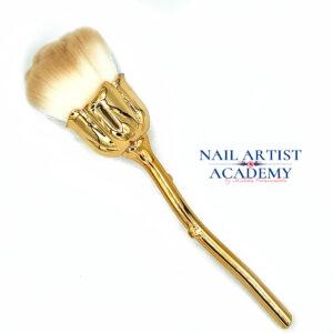spazzola unghie forma rosa oro