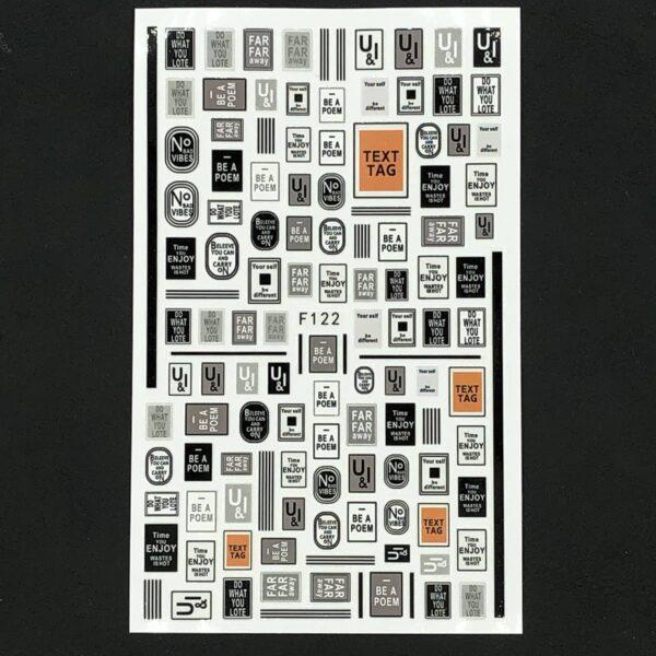Stickers plates stripes