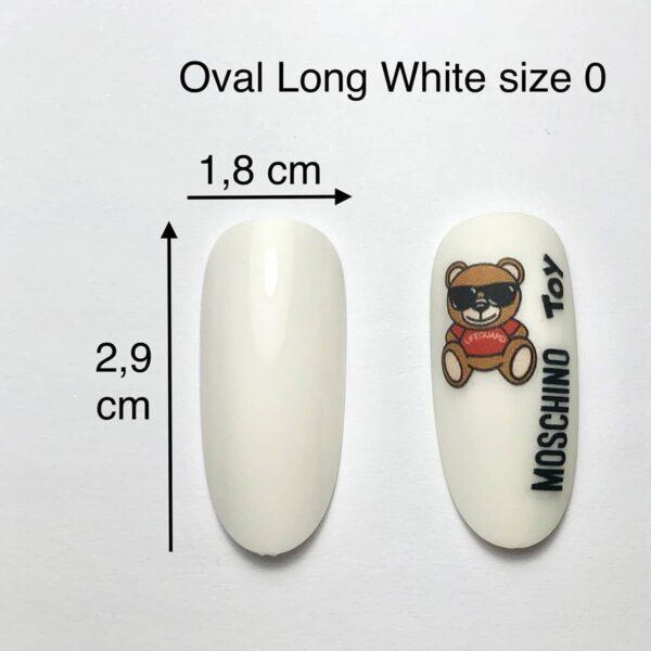 Tip ovale long bianca size 0