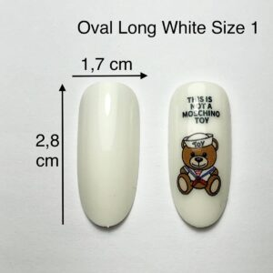 TIP ovali long bianche size 1