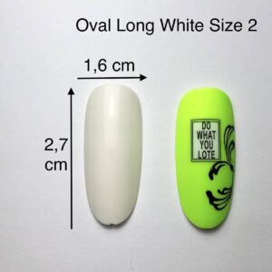 Tip ovali long bianche size 2