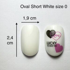 TIP ovali Short bianche size 0