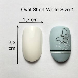 TIP ovali Short bianche size 1