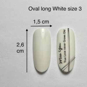 Tip oval long bianche size 3