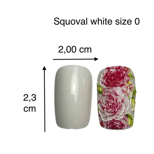 tip squoval bianco size 0