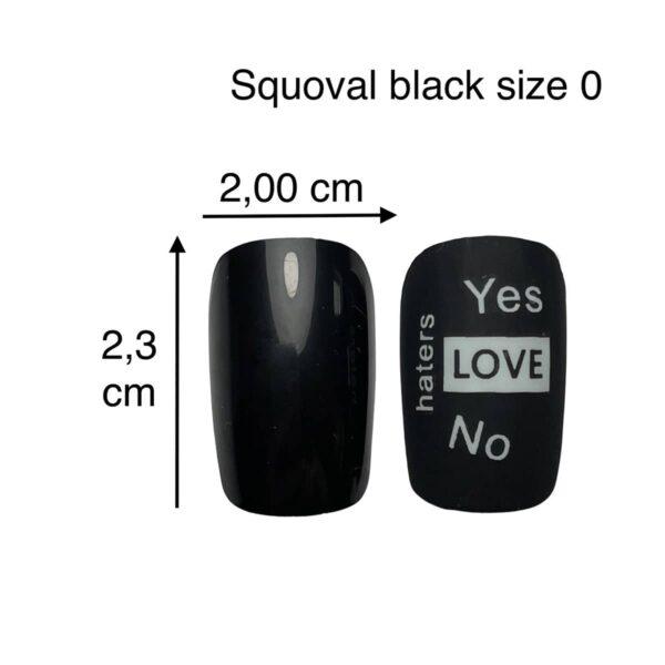 tip squoval nero size 0