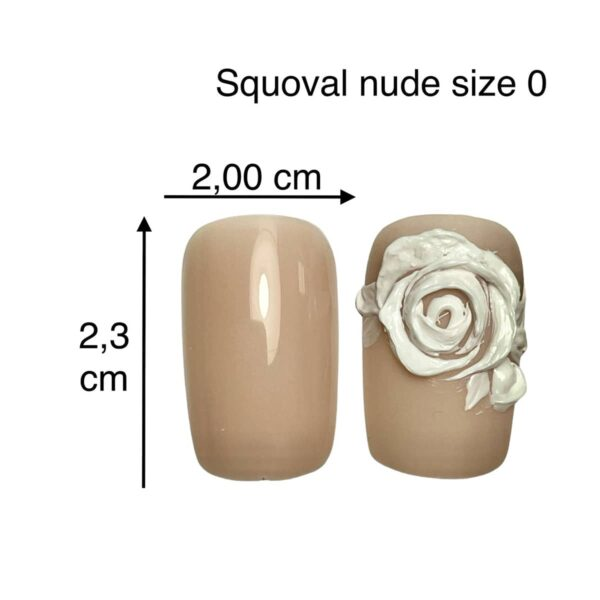 tip squoval nude size 0