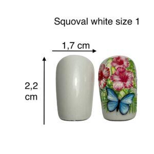 tip squoval bianco size 1
