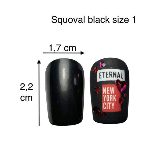 tip squoval nero size 1
