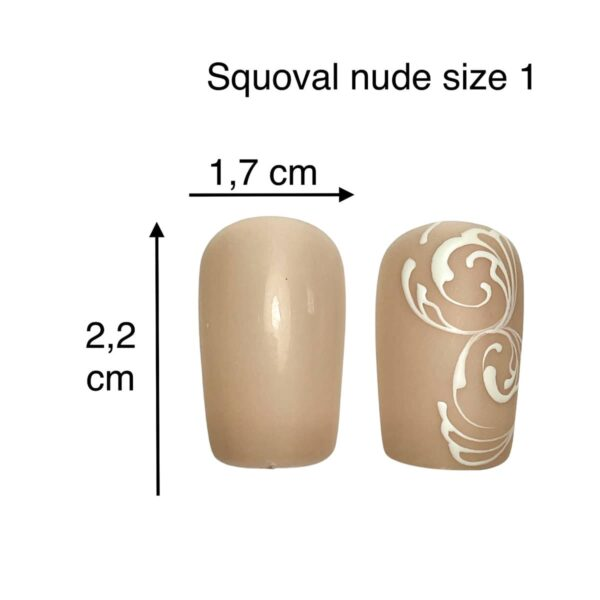 tip squoval nude size 1