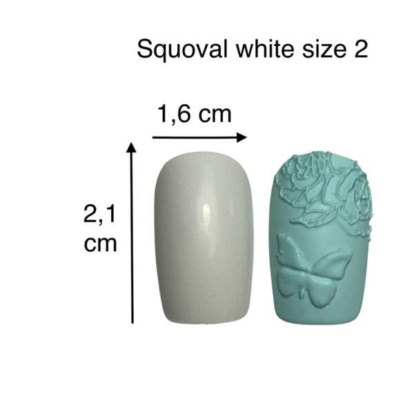 tip squoval bianco size 2