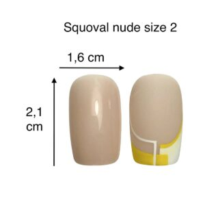 tip squoval nude size 2