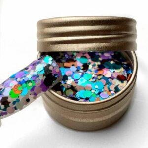 paillettes unghie colorate