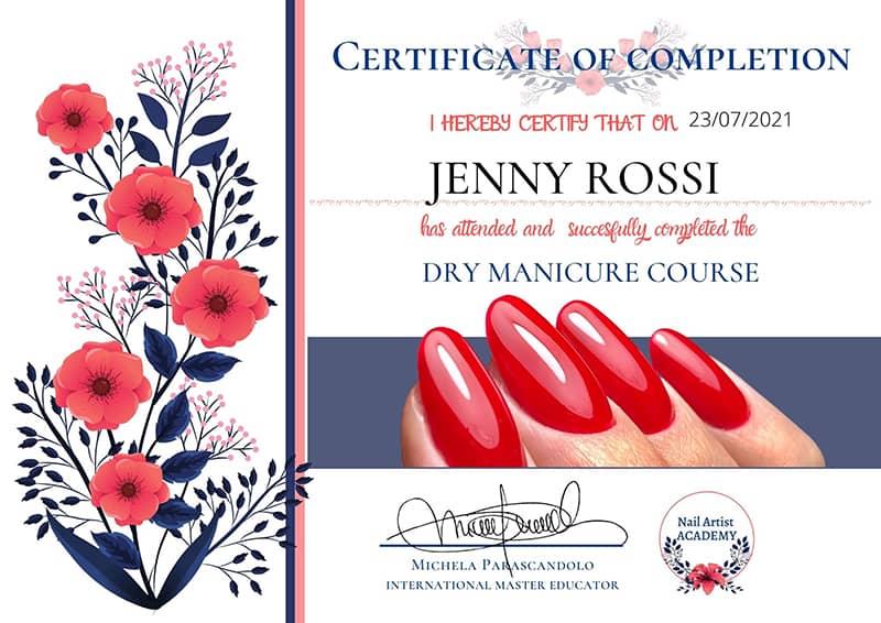 dry manicure diploma