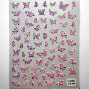 stickers farfalle 5D rosa